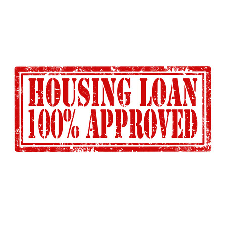 housing loan: Grunge rubber stamp with text Housing Loan