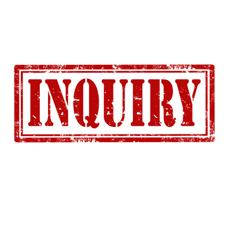 inquiry: Grunge rubber stamp with word Inquiry,vector illustration