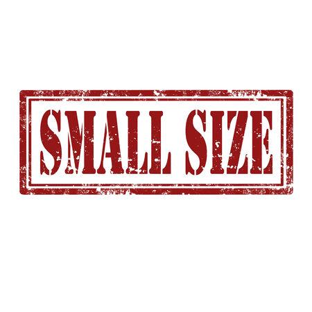 small size: Grunge sello de goma con el texto de tama�o peque�o, ilustraci�n vectorial Vectores