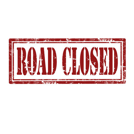 road closed: Grunge rubber stamp with text Road Closed,vector illustration Illustration