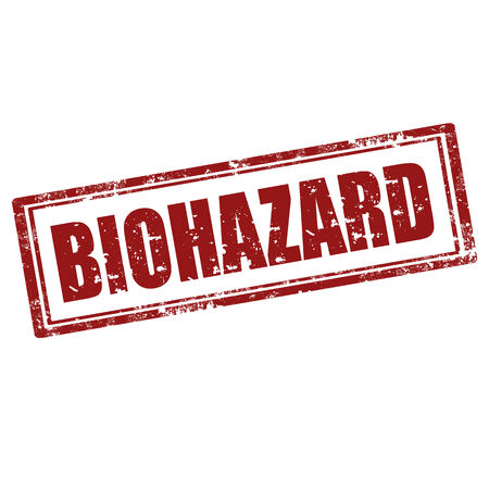 Grunge rubber stamp with text Biohazard,vector illustration Stock Vector - 25024355