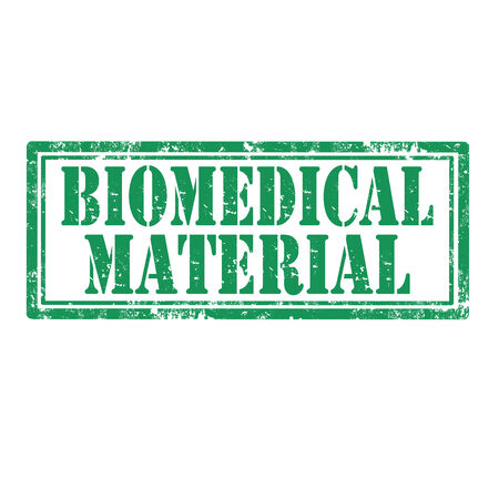 biomedical: Grunge rubber stamp with text Biomedical Material,vector illustration Illustration