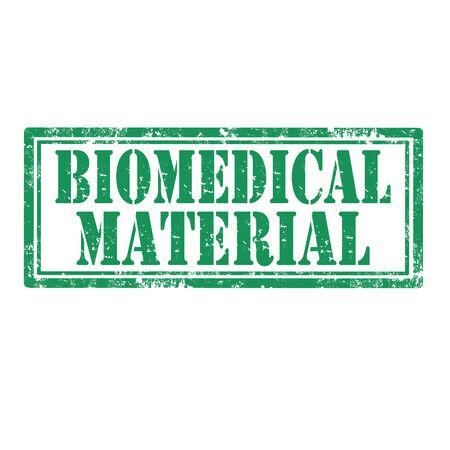 biomedical: Grunge timbro di gomma con il testo Biomedical Material, illustrazione vettoriale Vettoriali