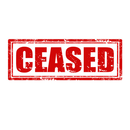 ceased: Grunge rubber stamp with word Ceased,vector illustration Illustration