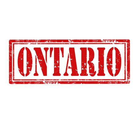 ontario: Grunge timbro di gomma con la parola Ontario, illustrazione vettoriale