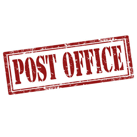 post office: Grunge rubber stamp with text Post Office ,vector illustration