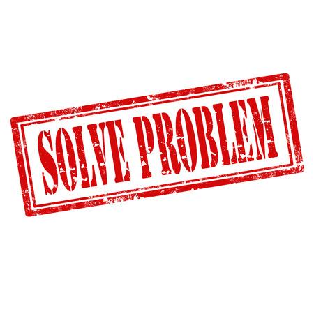 resoudre probleme: Tampon en caoutchouc grunge avec le texte r�soudre le probl�me, illustration vectorielle