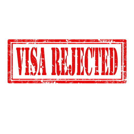 Grunge rubber stamp with text Visa Rejected,vector illustration Stock Vector - 25013643