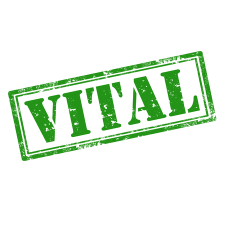 vital: Grunge rubber stamp with word Vital,vector illustration Illustration