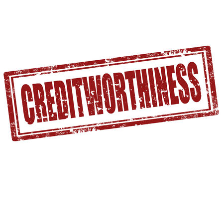 creditworthiness: Grunge rubber stamp with text Creditworthiness,vector illustration