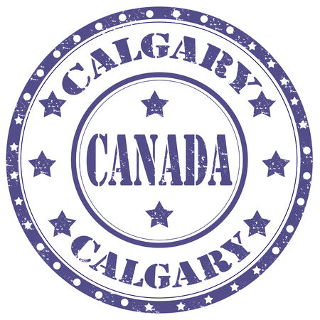 Grunge rubber stamp with text Calgary-Canada,vector illustration Vector
