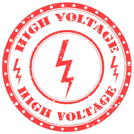 Grunge rubber stamp with text High Voltage,vector illustration Stock Vector - 25280092