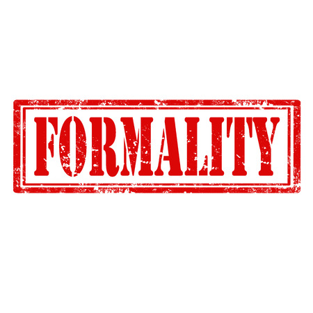 formality: Grunge rubber stamp with word Formality,vector illustration
