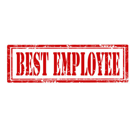 best employee: Grunge rubber stamp with text Best Employee,vector illustration