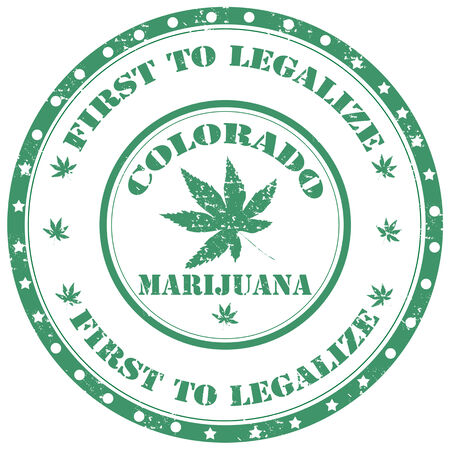 legalize: Grunge rubber stamp with text  Marijuana-First To Legalize  Illustration