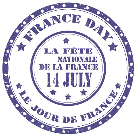 Grunge rubber stamp with text France Day,vector illustration Vector