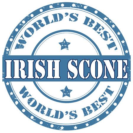 scone: Grunge rubber stamp with text Irish Scone,vector illustration