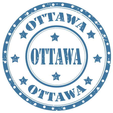 ottawa: Grunge rubber stamp with text Ottawa,vector illustration