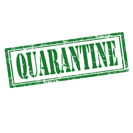 quarantine: Grunge rubber stamp with word Quarantine,vector illustration Illustration