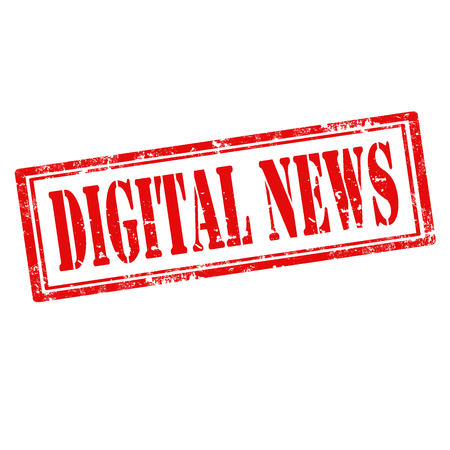digital news: Grunge rubber stamp with text Digital News illustration Illustration