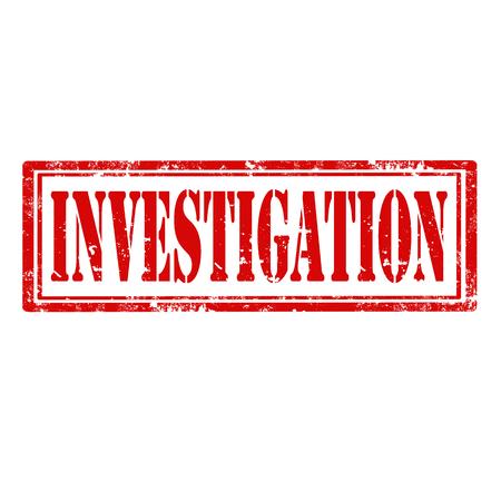 investigacion: Grunge sello de goma con la ilustraci�n de Investigaci�n palabra