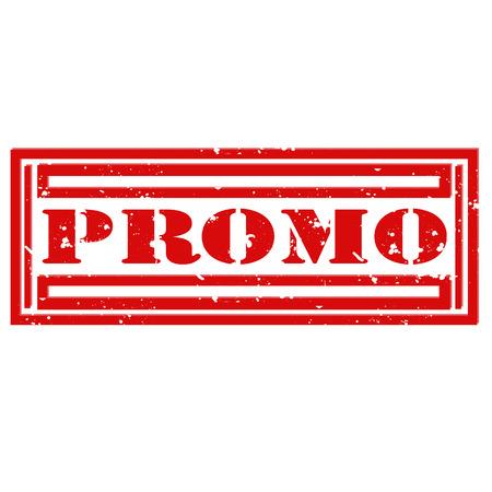 Grunge rubber stamp with word Promo,vector illustration Illustration