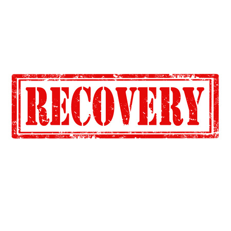 recovery: Grunge rubber stamp with text Recovery illustration Illustration