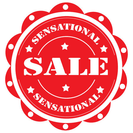 sensational: Label with text Sensational Sale illustration