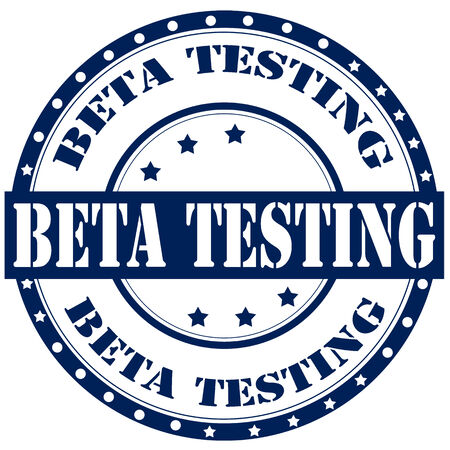 beta: Etichetta con testo di Beta Testing, illustrazione vettoriale