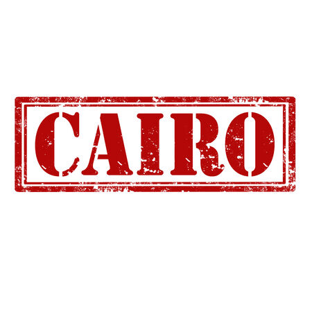Grunge rubber stamp with text Cairo,vector illustration Vector
