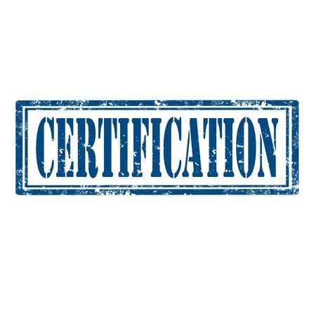 zertifizierung: Grunge Stempel mit Wort-Zertifizierung, Vektor-Illustration