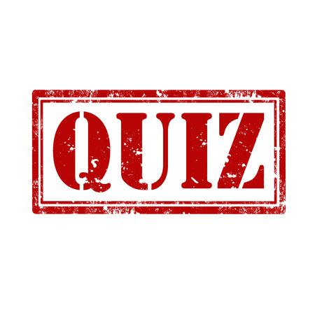 interrogate: Grunge rubber stamp with word Quiz,vector illustration Illustration