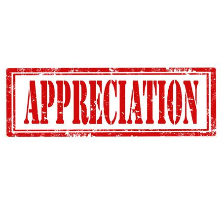 estimate: Grunge rubber stamp with word Appreciation,vector illustration