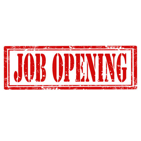 job opening: Grunge sello de goma con el texto de apertura de empleo, ilustraci�n vectorial