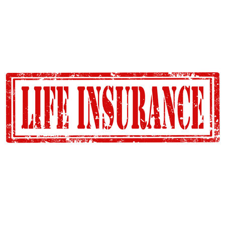 lebensversicherung: Grunge Stempel mit Text Life Insurance, Vektor-Illustration