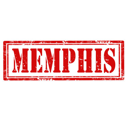 memphis: Grunge rubber stamp with word Memphis,vector illustration