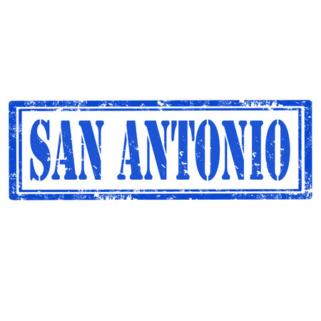 Grunge rubber stamp with text San Antonio,vector illustration Vector