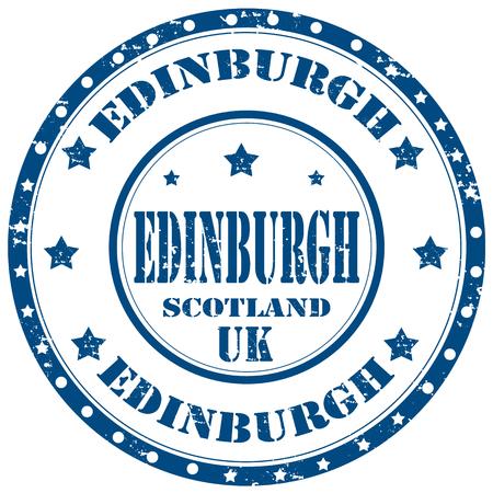 edinburgh: Grunge rubber stempel met tekst Edinburgh, vector illustratie Stock Illustratie