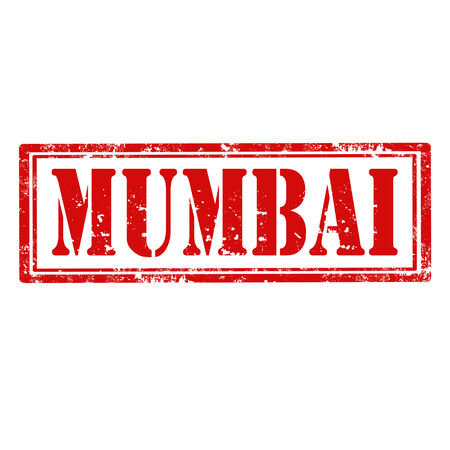 Grunge rubber stamp with word Mumbai,vector illustration Vector