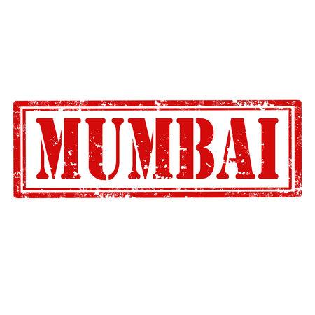 mumbai: Grunge rubber stamp with word Mumbai,vector illustration