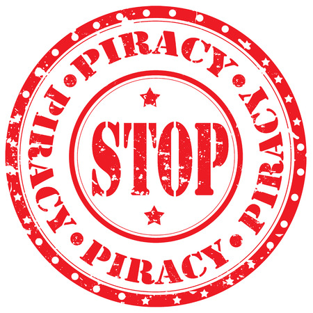 stop piracy: Grunge rubber stamp with text Stop Piracy,vector illustration