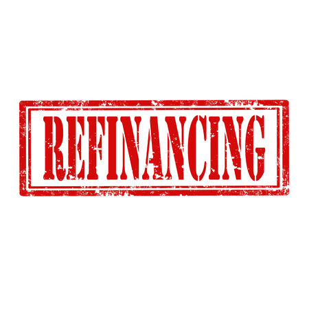 refinancing: Grunge rubber stamp with text Refinancing,vector illustration