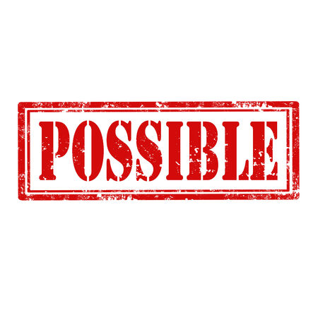 possible: Grunge rubber stamp with word Possible,vector illustration