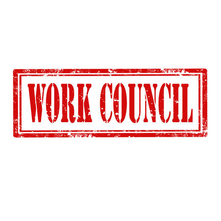 council: Grunge rubber stamp with text Work Council,vector illustration