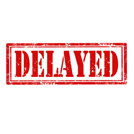 delayed: Grunge rubber stamp with word Delayed,vector illustration Illustration