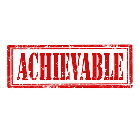 achievable: Grunge rubber stamp with word Achievable,vector illustration