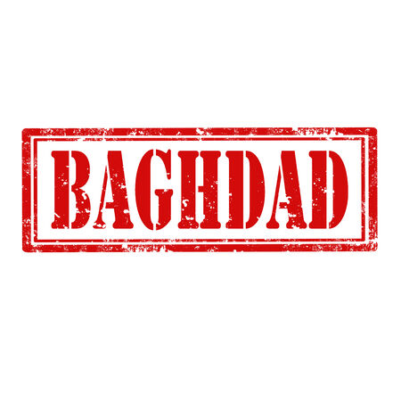 Grunge rubber stamp with word Baghdad illustration Vector