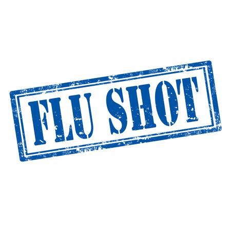 flu: Grunge rubber stamp with text Flu Shot illustration Illustration