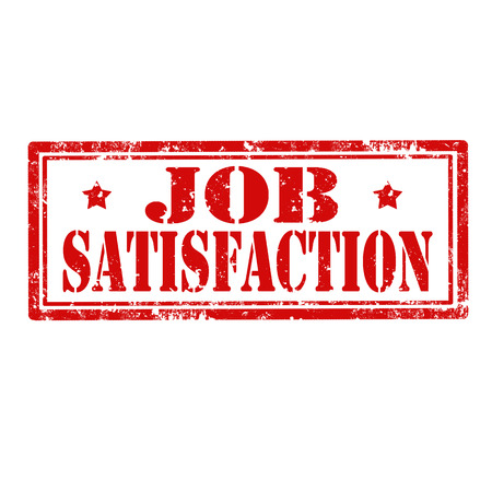 job satisfaction: Grunge rubber stamp with text Job Satisfaction illustration Illustration