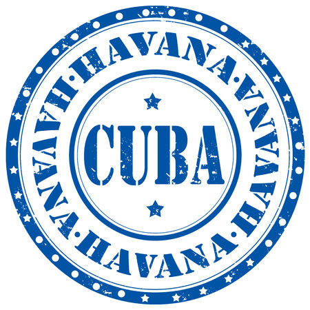 havana cuba: Grunge rubber stamp with text Havana-Cuba,vector illustration